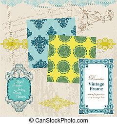 Scrapbook Design Elements - Vintage Tiles and Frames- in vector