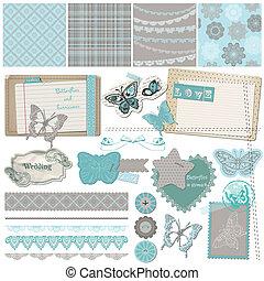 Scrapbook Design Elements - Vintage Lace Butterflies - in ...