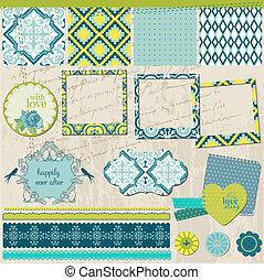 Scrapbook Design Elements - Vintage Tile with frames - in vector