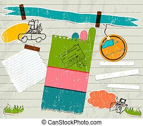 scrapbook details set.  vector illustration EPS 10