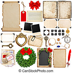 scrapbook elements for christmas holidays greetings