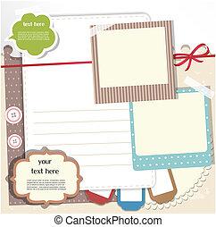 Scrapbook elements - Set of scrapbook elements