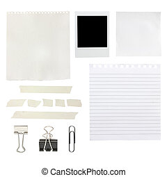 scrapbook elements including papers and a photo - ...