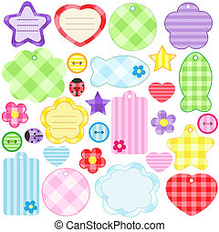 scrapbook elements - Set of different scrapbooking elements