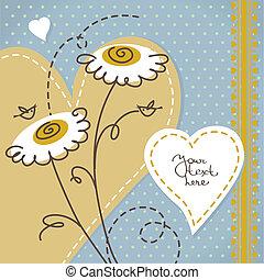 Scrapbook floral background