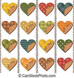scrapbook, jogo, corações