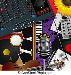 scrapbook, modernos, música