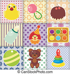 scrapbook objects for baby