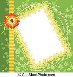 Scrapbook Page Spring Green Floral - Scalable vectorial...