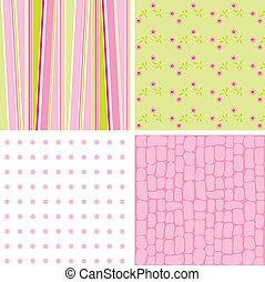 Scrapbook patterns for design, vector