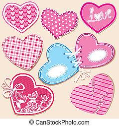 Scrapbook set of hearts