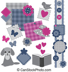 scrapbook set with different object - scrapbook set with...