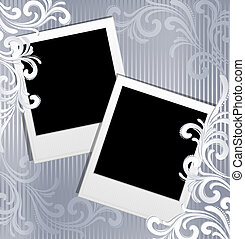 scrapbook template -polaroid frames