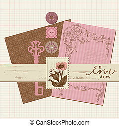 Scrapbook Vintage design elements