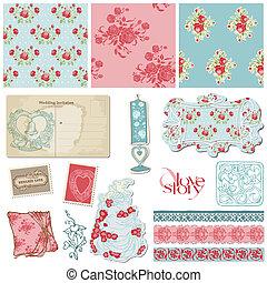 Scrapbook Vintage Wedding Collection - design elements for ...