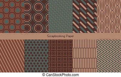 Scrapbooking background. Seamless pattern
