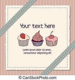 Scrapbooking card with cupcakes