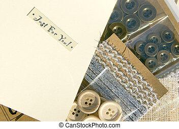 crafting and scrapbooking materials