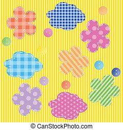 scrapbooking elements seamless pattern