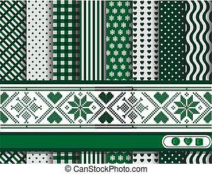 scrapbooking, grön, jul