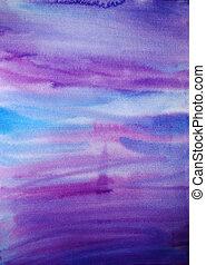 scrapbooking, målad, hand, vattenfärg, dramatisk, bakgrund