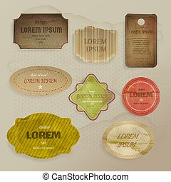 Scrapbooking paper elements vector illustration