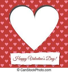 valentine card - Scrapbooking paper valentine card with...