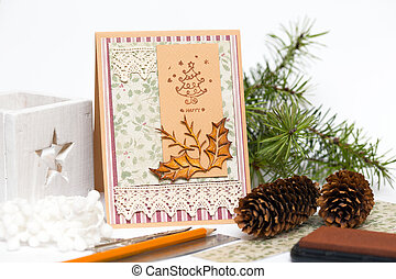 scrapbooking - scrapbook background. christmas card and ...