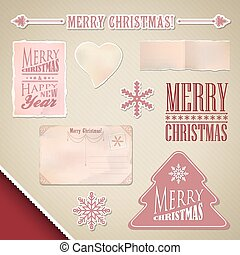 Scrapbooking set: Merry Christmas