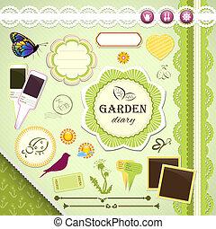 Scrapbooking Set: My Garden Diary