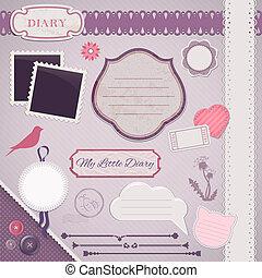 Scrapbooking Set: My Little Diary