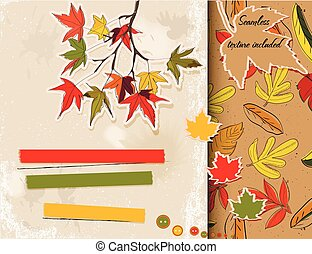scrapbooking, set, over, autumn.
