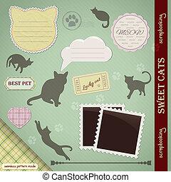 Scrapbooking Set: Sweet Cats