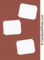 scrapbooking - classic blank photo inserts with corners for...