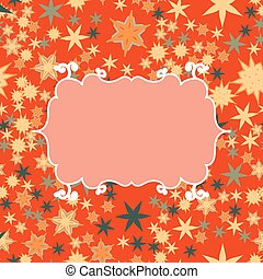 Scrapbooking template with place for text for invitation, greeting, happy birthday, postcard, frame, baby child posrcard, children pattern, clip art, holiday, gift and etc