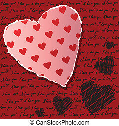 scrapbooking, valentines, kártya