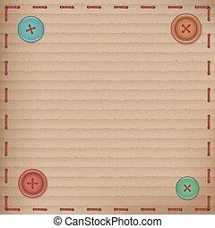 Scrapbooking Vintage cardboard card buttons
