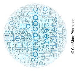 Scrapbooks That Work Some Cool Ideas text background wordcloud concept