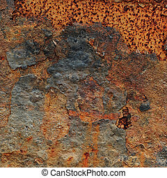 Scrapes on Rusty Metal