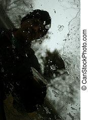 scraping windshield