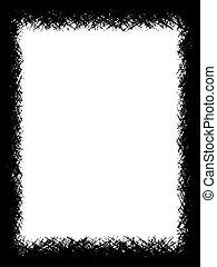 scratch black - Illustration of a black rough border