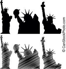 scratch statue of liberty