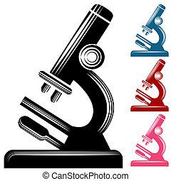 scratchboard, microscope