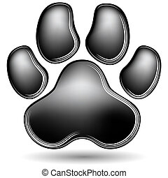 Scratchboard Paw Print - An image of a scratchboard paw...