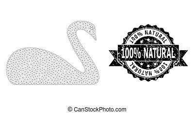 Scratched 100% Natural Ribbon Stamp and Mesh Carcass Goose