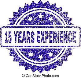 Scratched 15 YEARS EXPERIENCE Stamp Seal
