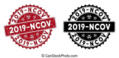 Scratched 2019-Ncov Round Red Stamp