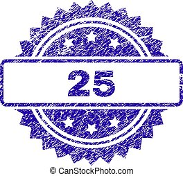 Scratched 25 Stamp Seal