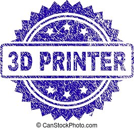 Scratched 3D PRINTER Stamp Seal