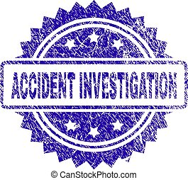 Scratched ACCIDENT INVESTIGATION Stamp Seal